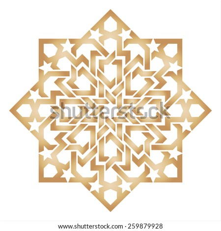 Islamic traditional ornament - stock vector