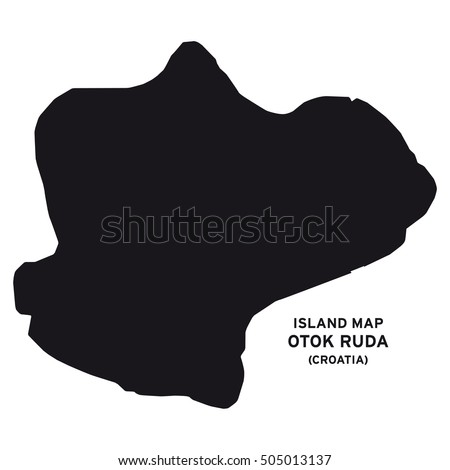 Island map of Otok Ruda (Croatia)
