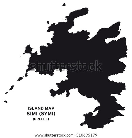 Island Map Simi Symi Greece Stock Vector 510695179 Shutterstock