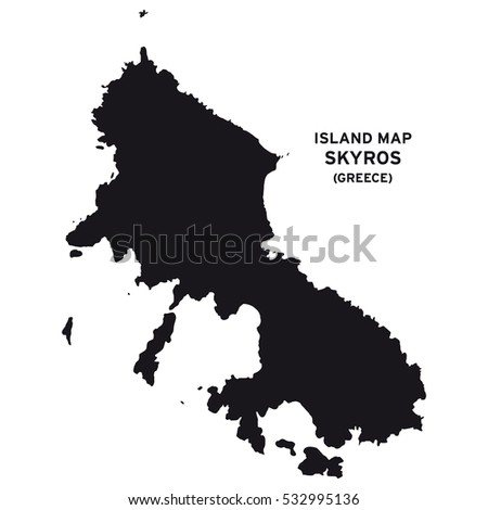 Island Map Skyros Greece Stock Vector 532995136 Shutterstock