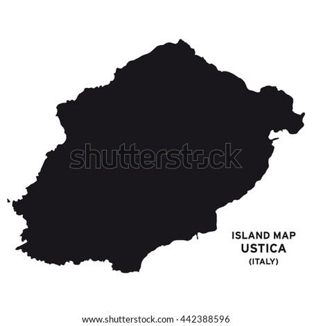 Island Map Ustica Italy Stock Vector 442388596 Shutterstock