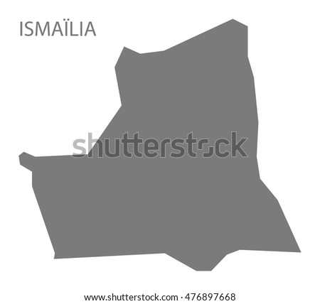 Ismailia Egypt Map in grey