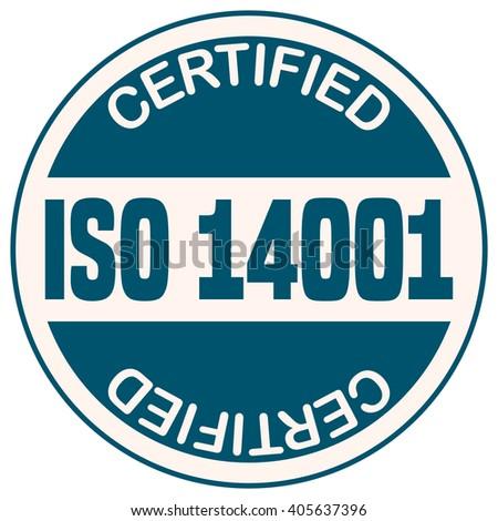 Iso 14001 Certified Sticker Vector Illustration Stock Vector ...