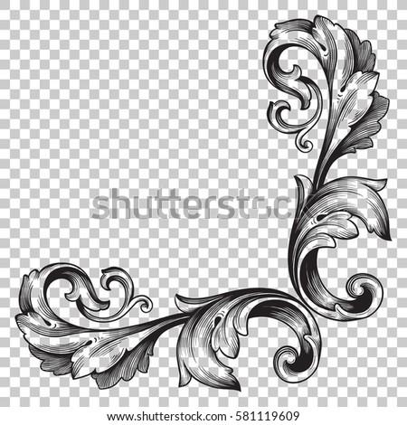 Isolate vintage baroque ornament retro pattern stock photo photo isolate vintage baroque ornament retro pattern antique style acanthus decorative design element filigree calligraphy vector junglespirit Choice Image