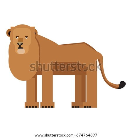 Isolated abstract lion on a white background, Vector illustration