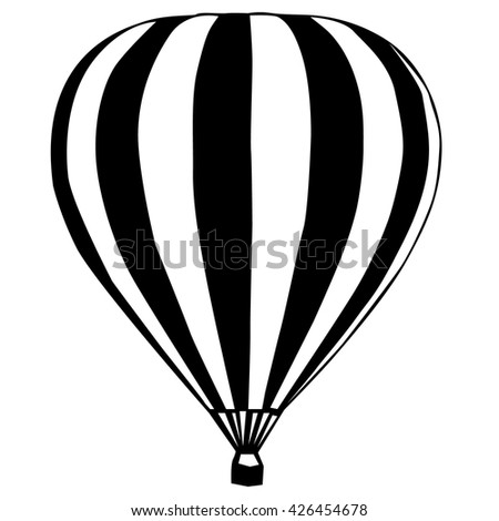 hot air balloon silhouette stock images, royalty-free images