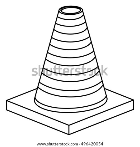 Isolated and silhouette cone design