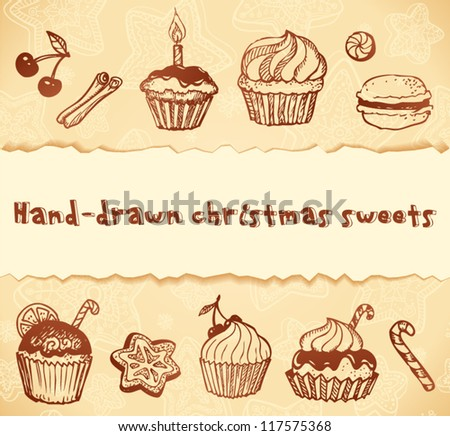 Isolated bakery hand-drawn illustrations set. Can be used as icons or design elements.