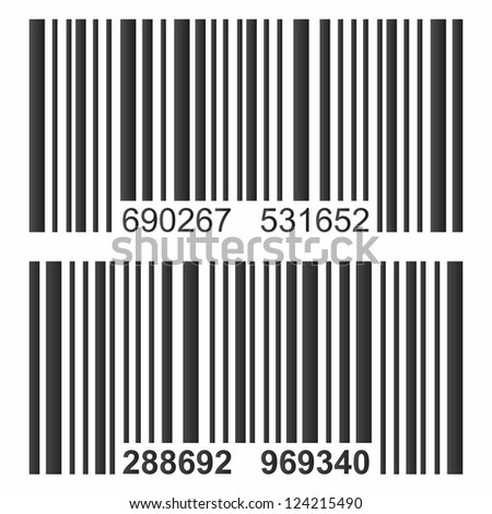 Isolated bar code vector. - stock vector