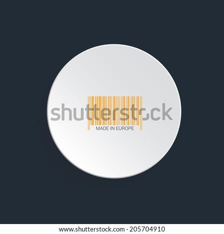 Isolated bar code vector flat - stock vector