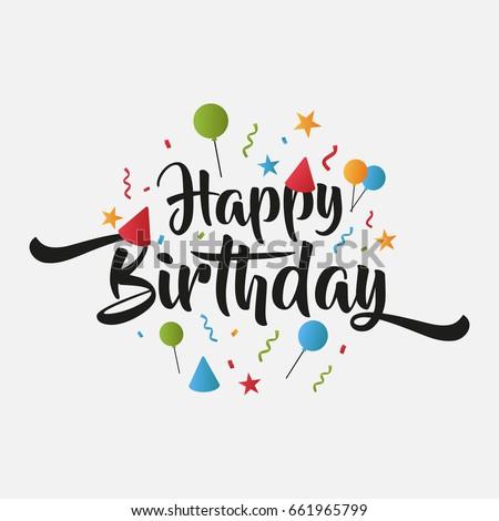 Isolated Birthday Greeting Card Happy Birthday Stock Vector HD