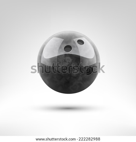 Isolated black bowling ball vector illustration - stock vector