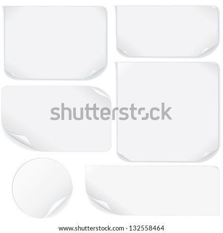 Isolated Blank Paper Sheet. Vector Pack - stock vector