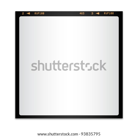 Isolated blank photo film - stock vector