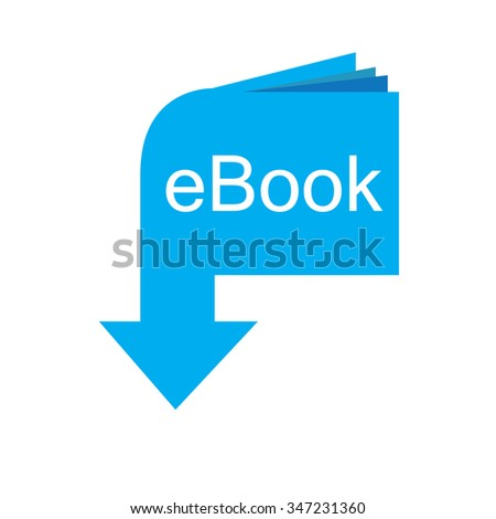 Isolated blue e-book icon on a white background - stock vector