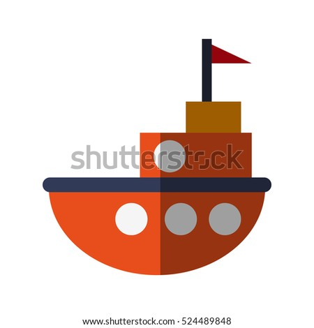 Isolated boat toy design