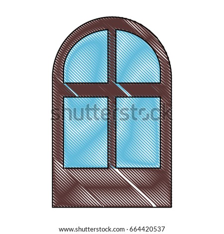 isolated brown window