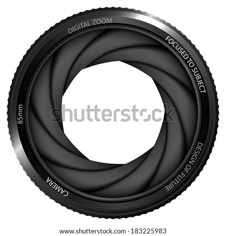 isolated camera shutter ready to snapshot vector illustration