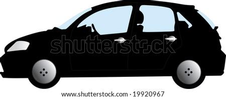isolated car - stock vector