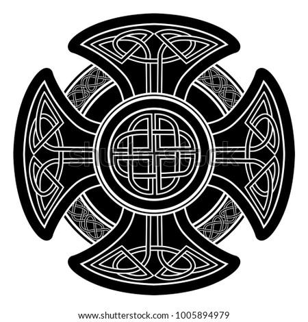Isolated Celtic Cross National Scandinavian Ornament Stock Vector
