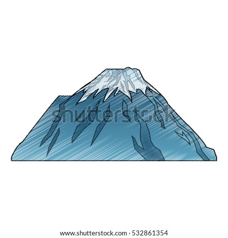 Isolated china mountain design