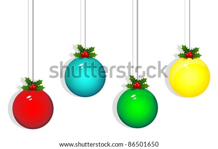 Isolated christmas ball