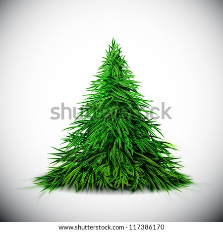 Isolated Christmas tree. Eps 10 - stock vector