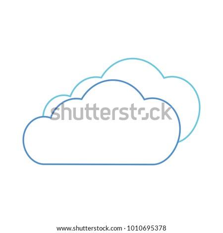 Cloud sky silhouette sun stock vector 759089428 shutterstock isolated cloud design voltagebd Gallery