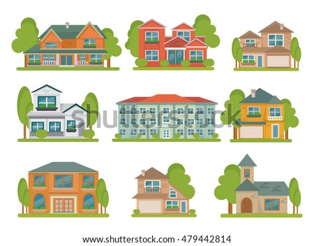 Different houses stock images royalty free images for Types of residential houses
