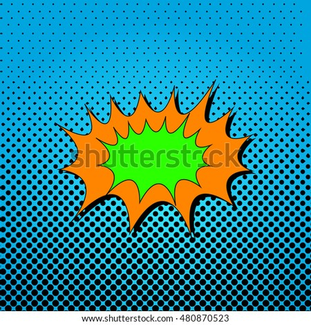 Isolated Comic pop art expression, Vector illustration