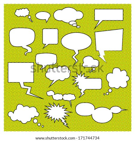 Isolated Comic Speech Bubbles - stock vector