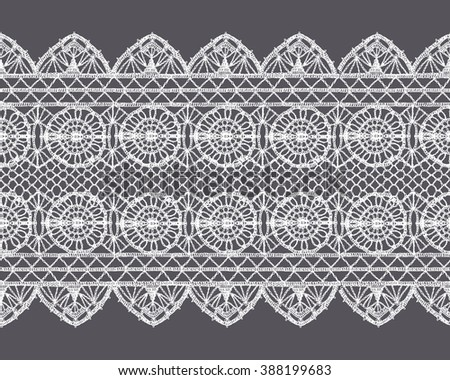 Lace crochet stock images royalty free images vectors for Border lace glam