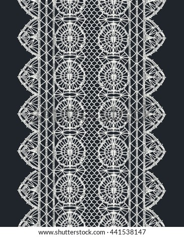 Crochet lace shutterstock for Border lace glam