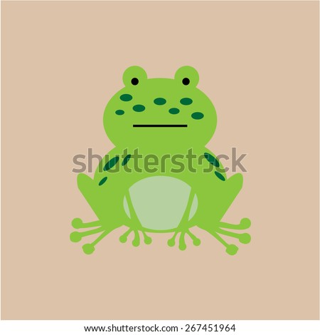 Isolated cute animal on a colored background. Vector illustration