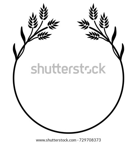 Isolated Decorative Round Frame Floral Motifs Stock Vector ...