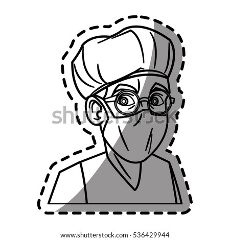 Isolated doctor cartoon design