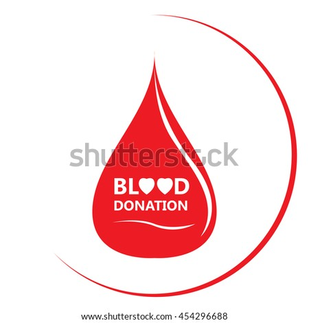 Isolated drop shape, Blood donation, Vector illustration