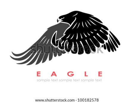 Isolated eagle - stock vector