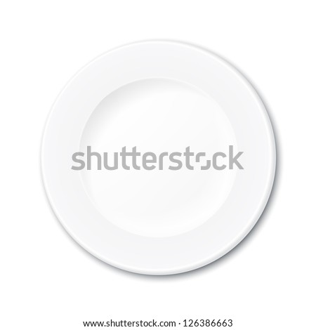 isolated empty plate