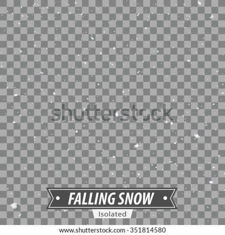 Isolated Falling Snow / EPS10 Vector