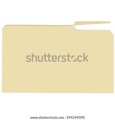 Isolated file folder with file vector illustration - stock vector