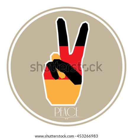 Isolated german flag, Conceptual peace, Vector illustration