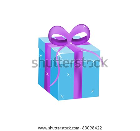Isolated gift box - stock vector