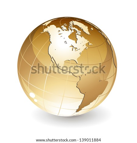 Isolated globe - stock vector