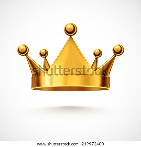 Isolated gold crown, eps 10 - stock vector