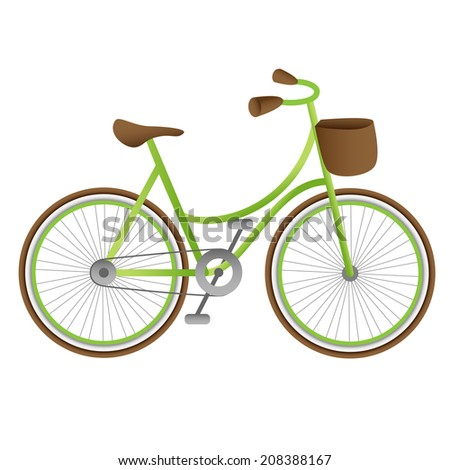 Isolated green bike