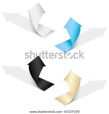 Isolated grow arrows stat financial graph set 06 - stock vector