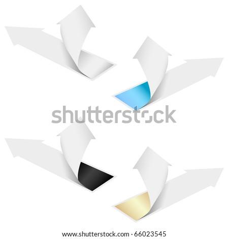 Isolated grow arrows stat financial graph set 07 - stock vector