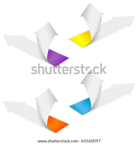Isolated grow arrows stat financial graph set 04. Vector illustration - stock vector