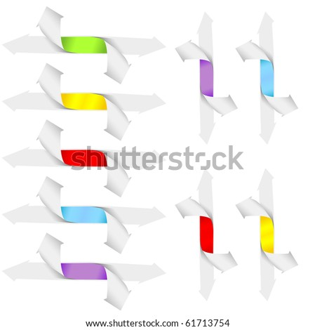 Isolated grow arrows stat financial graph. Vector illustration - stock vector